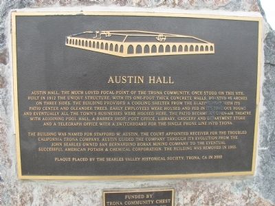 Austin Hall Marker image. Click for full size.