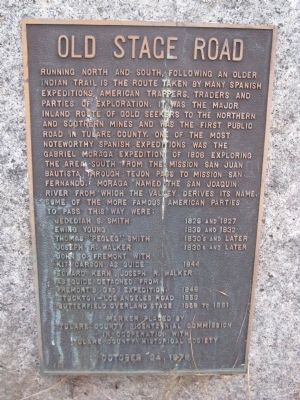 Old Stage Road Marker image. Click for full size.