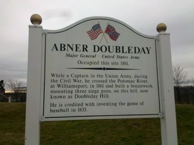 Abner Doubleday Marker Photo, Click for full size