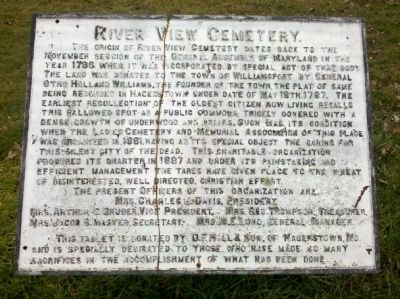 River View Cemetery Marker image. Click for full size.