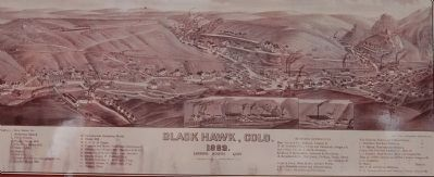 Detail from the Bird�s-eye view of Black Hawk Marker image. Click for full size.