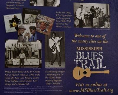 The Blues Trail: Mississippi to Helena Marker image. Click for full size.