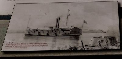 """the gun boat Tyler saved the day "" Marker image. Click for full size."