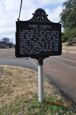 Fort Curtis Marker image. Click for full size.