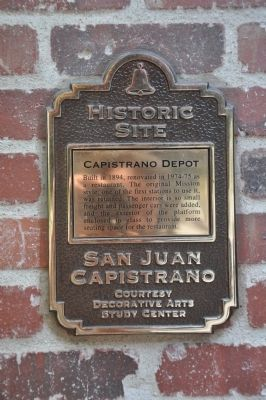 Capistrano Depot Marker image. Click for full size.