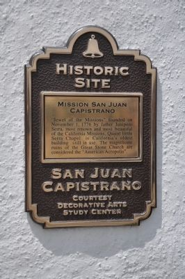 Mission San Juan Capistrano Marker image. Click for full size.