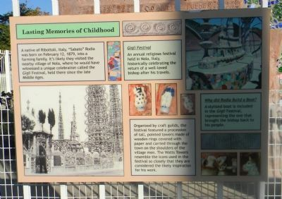 Watts Towers Marker Panel 3 image. Click for full size.
