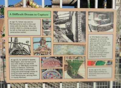 Watts Towers Marker Panel 4 image. Click for full size.