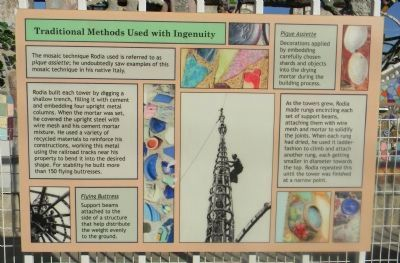 Watts Towers Marker Panel 5 image. Click for full size.