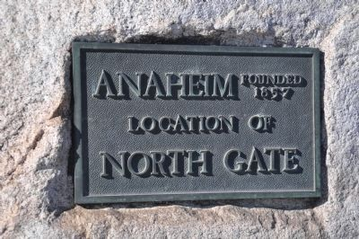 North Gate of City of Anaheim Marker image. Click for full size.