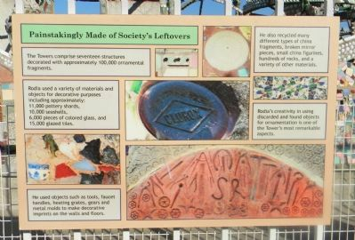 Watts Towers Marker Panel 6 image. Click for full size.