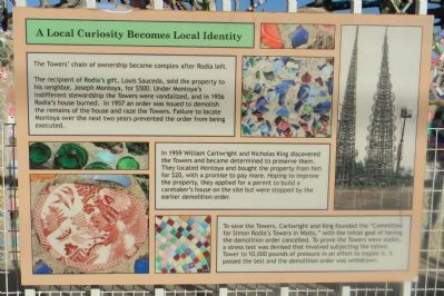 Watts Towers Marker Panel 8 image. Click for full size.
