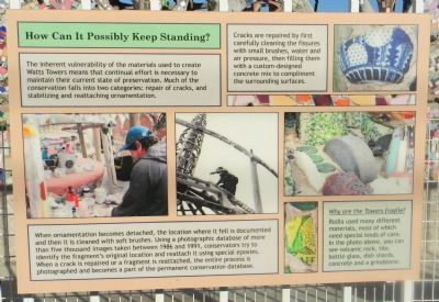 Watts Towers Marker Panel 10 image. Click for full size.