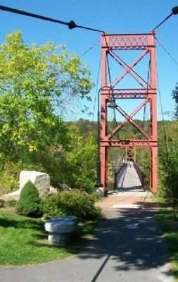 South Approach to Androscoggin Swinging Bridge image. Click for full size.