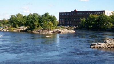 Androscoggin River from Swinging Bridge image. Click for full size.