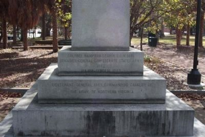 Wade Hampton Monument, north side image. Click for full size.