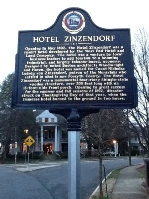 Hotel Zinzendorf Marker Photo, Click for full size