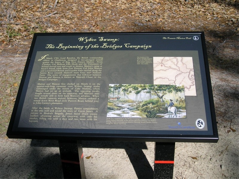 Wyboo Swamp: The Beginning of the Bridges Campaign Marker