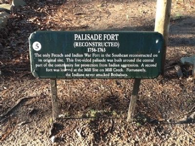 Palisade Fort Marker image. Click for full size.
