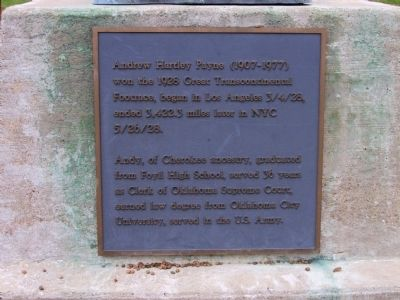 Andrew Hartley Payne Marker Photo, Click for full size