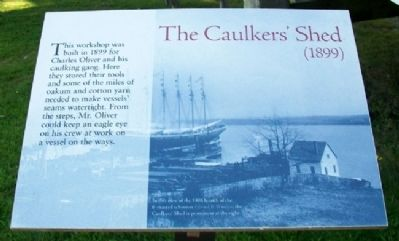 The Caulkers' Shed (1899) Marker image. Click for full size.
