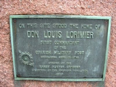 Don Louis Lorimier Marker image. Click for full size.