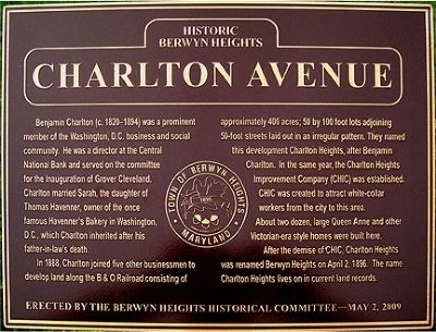 Charlton Avenue Marker image. Click for full size.
