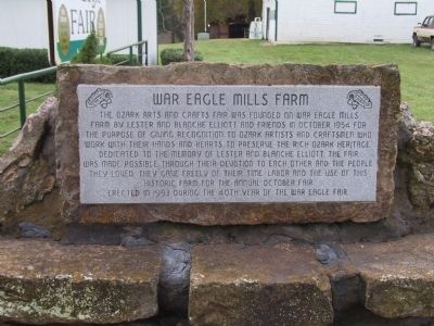 War Eagle Mills Farm Marker image. Click for full size.