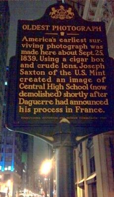 Oldest Photograph Marker image. Click for full size.