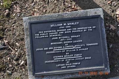 William M. Whaley Marker image. Click for full size.