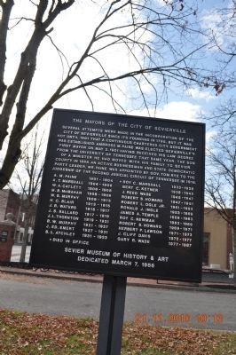 The Mayors of the City of Sevierville Marker image. Click for full size.