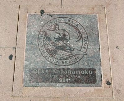 Duke Kahanamoku - Huntington Beach Surfing Walk of Fame Tile image. Click for full size.