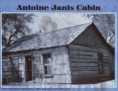 Antoine Janis cabin in original location c.1930s image. Click for full size.