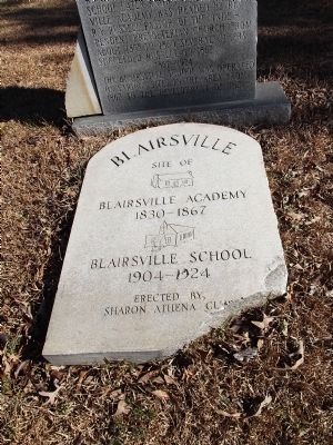 Original Blairsville Schools Marker image. Click for full size.