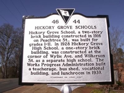 Hickory Grove Schools Marker image. Click for full size.
