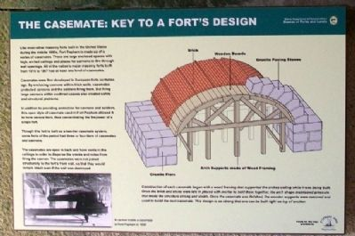 The Casement: Key to a Fort's Design Marker image. Click for full size.