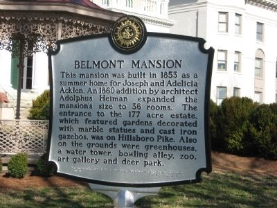 Belmont Mansion Marker image. Click for full size.