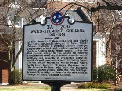Ward-Belmont College Marker image. Click for full size.
