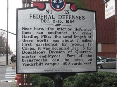 Federal Defenses Marker image. Click for full size.