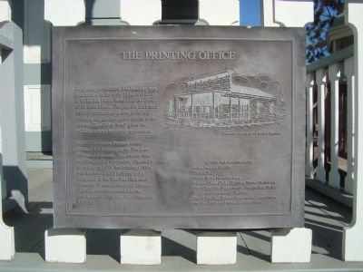 The Printing Office Marker image. Click for full size.