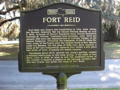 Fort Reid Marker Photo, Click for full size