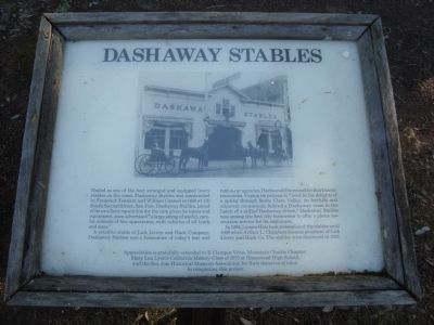 Dashaway Stables Marker image. Click for full size.