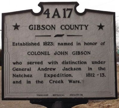 Gibson County Marker image. Click for full size.