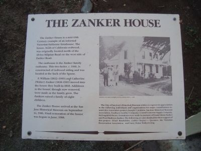 The Zanker House Marker image. Click for full size.