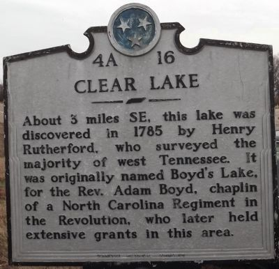 Clear Lake Marker image. Click for full size.