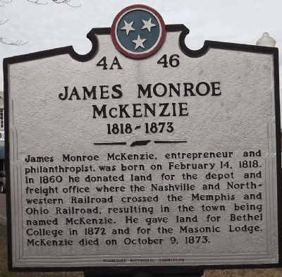 James Monroe McKenzie Marker image. Click for full size.
