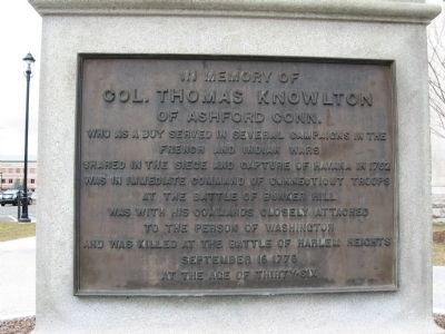 Col. Thomas Knowlton Marker Photo, Click for full size