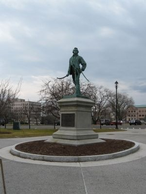 Col. Thomas Knowlton Statue Photo, Click for full size