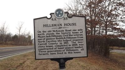 Hillsman House Marker image. Click for full size.