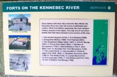 Forts on the Kennebec River Marker Photo, Click for full size